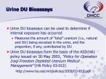 urine du bioassays