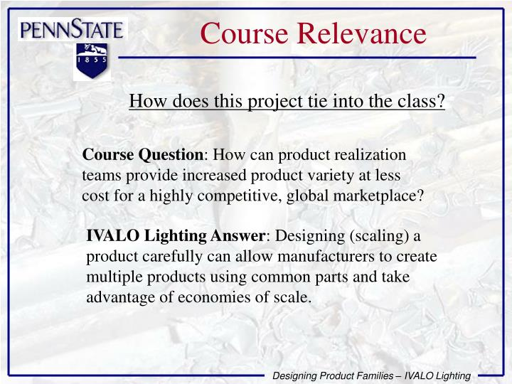 Course Relevance