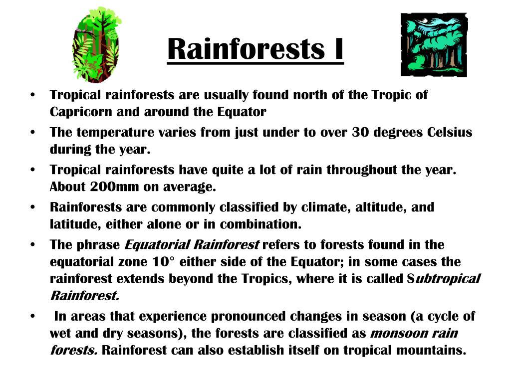 Rainforests I