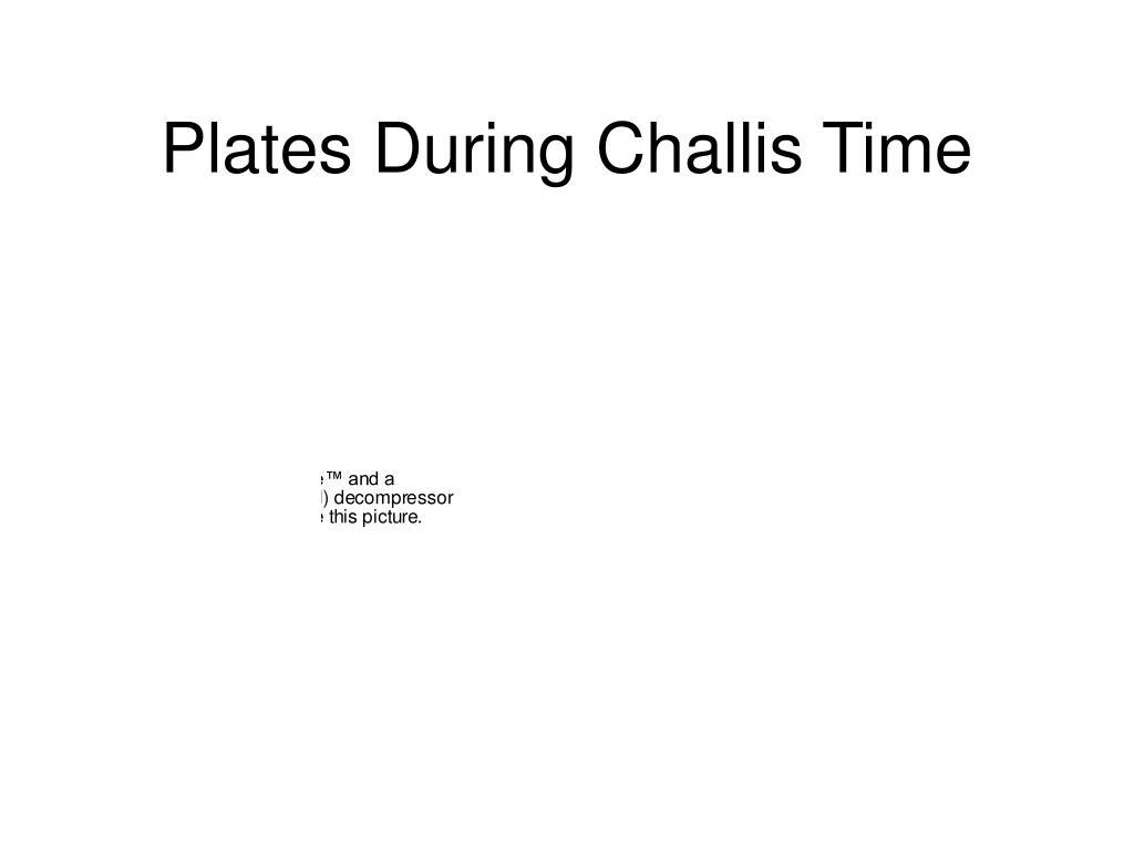 Plates During Challis Time