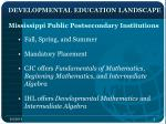 developmental education landscape
