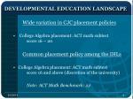 developmental education landscape1
