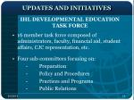 updates and initiatives1
