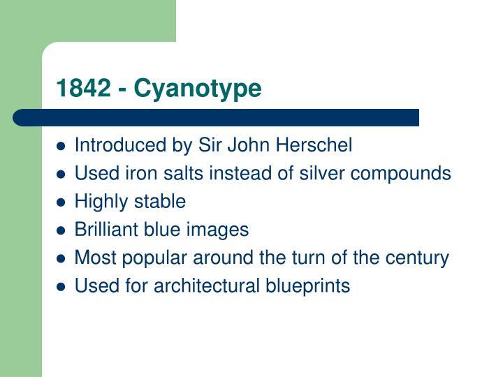 1842 - Cyanotype
