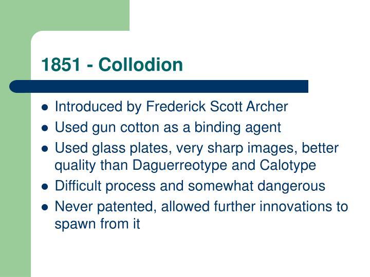 1851 - Collodion