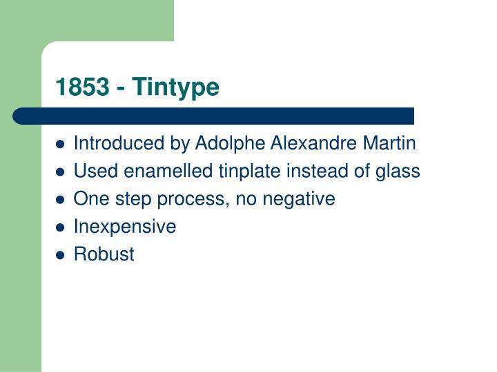 1853 - Tintype