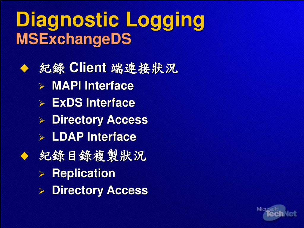 Diagnostic Logging