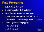 raw properties