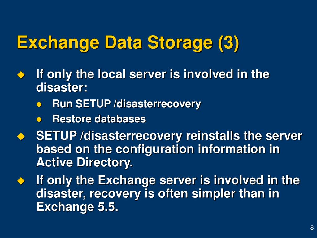Exchange Data Storage (3)