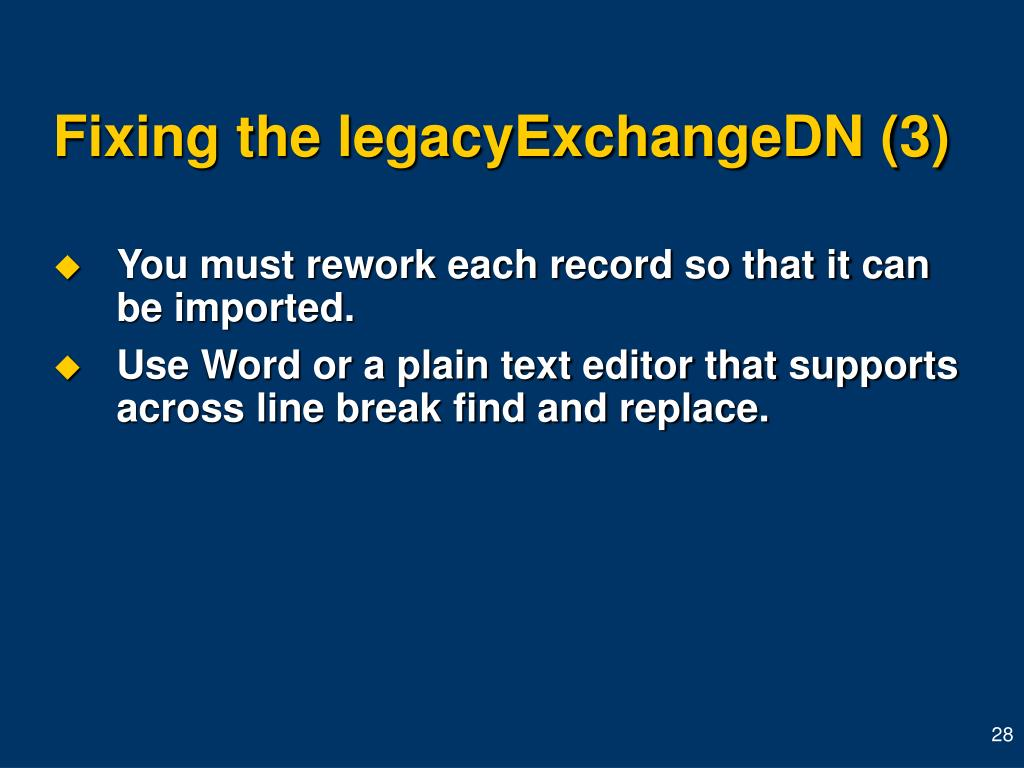 Fixing the legacyExchangeDN (3)