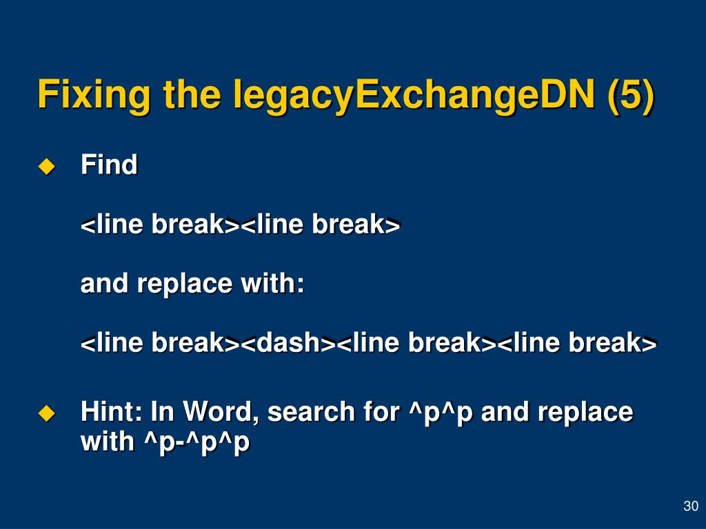 Fixing the legacyExchangeDN (5)