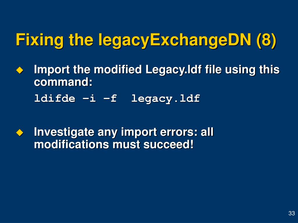 Fixing the legacyExchangeDN (8)