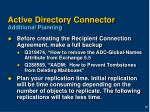 active directory connector additional planning