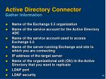 active directory connector gather information