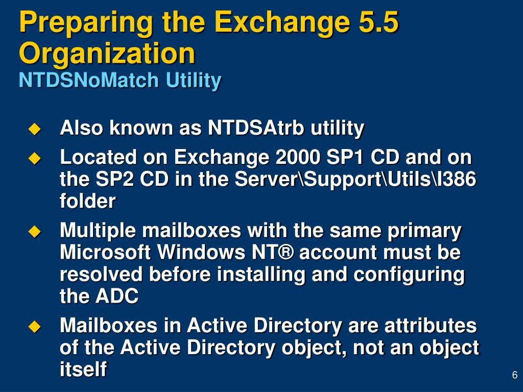 Preparing the Exchange 5.5 Organization