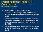 preparing the exchange 5 5 organization ntdsnomatch utility