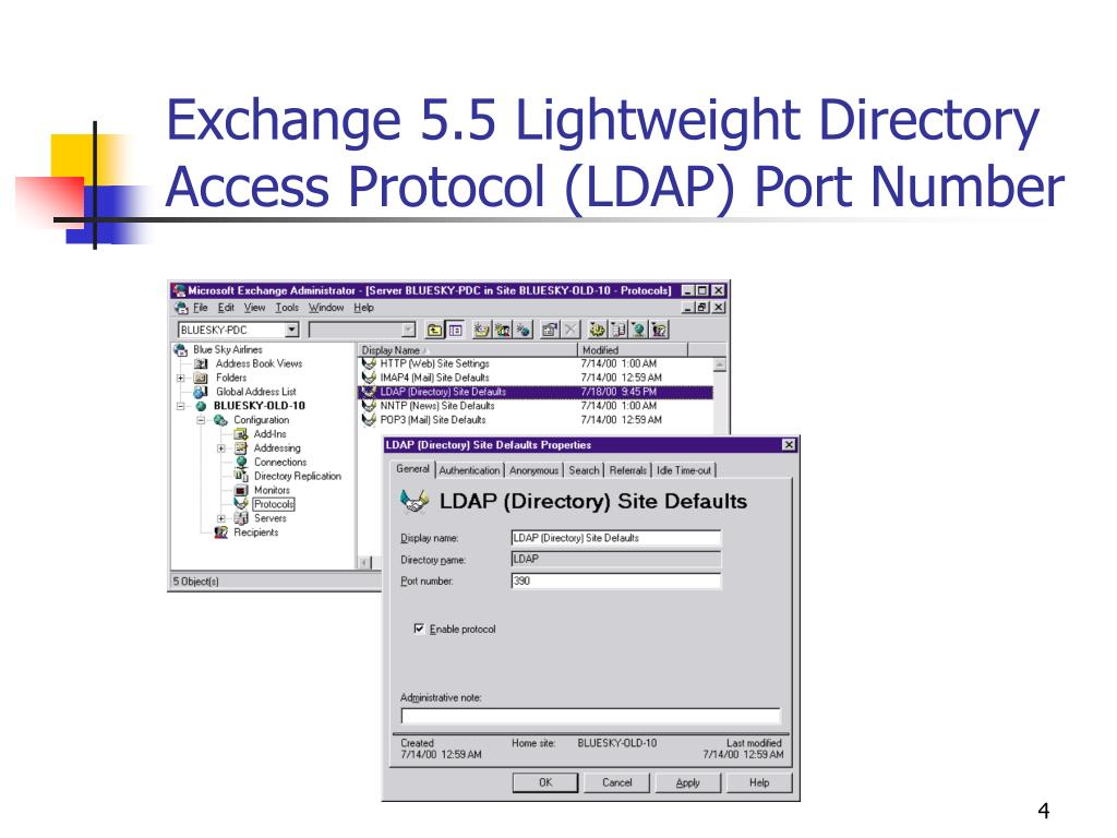 Exchange 5.5 Lightweight Directory Access Protocol (LDAP) Port Number