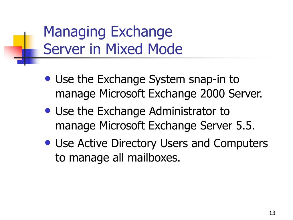 Managing Exchange