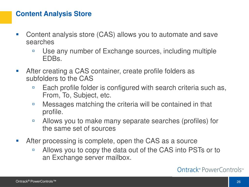 Content Analysis Store