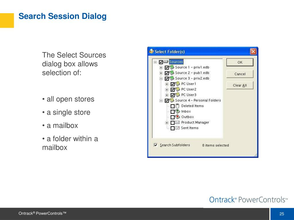 Search Session Dialog