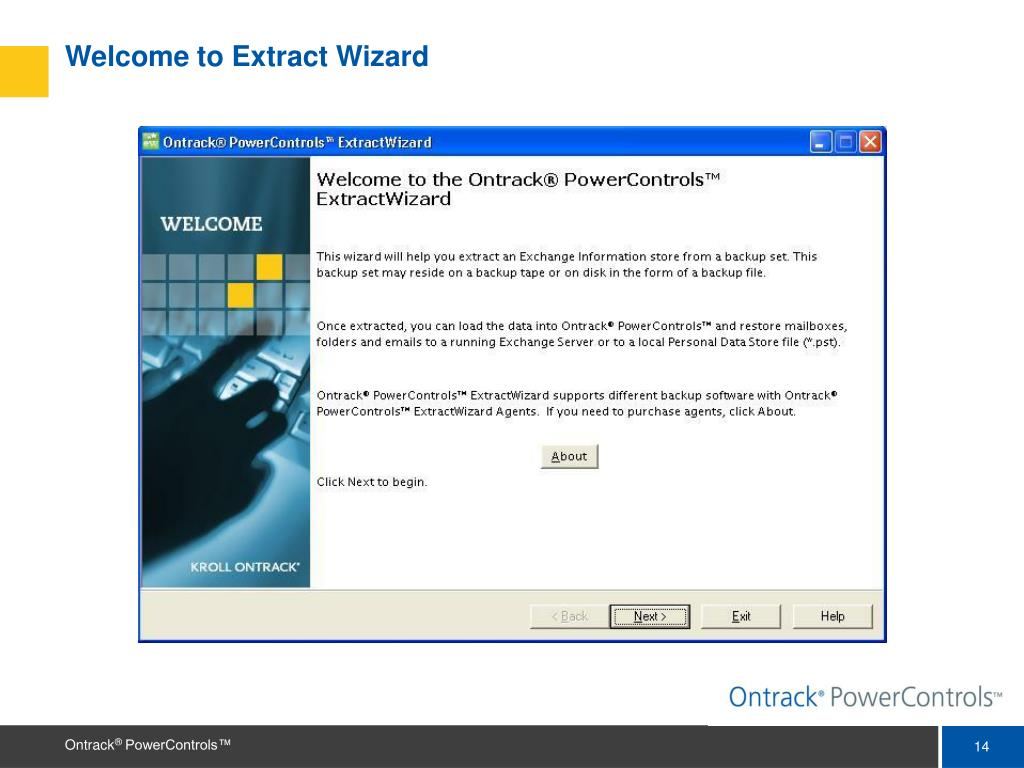 Welcome to Extract Wizard