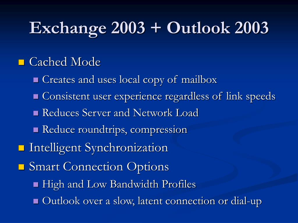Exchange 2003 + Outlook 2003