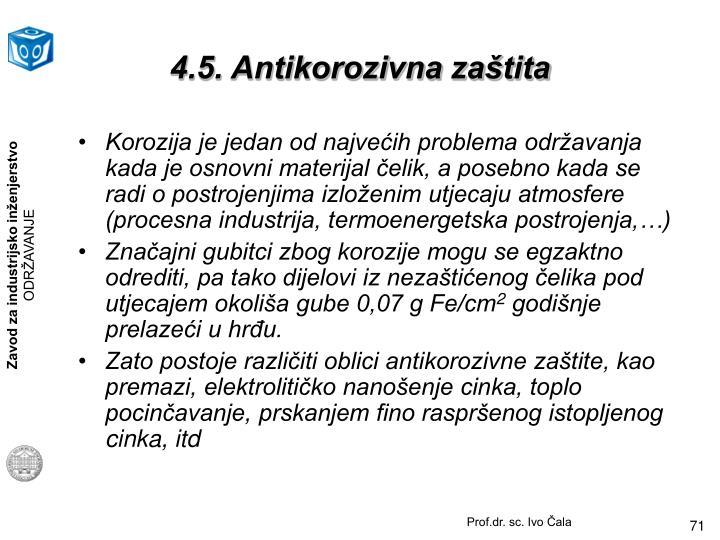 4.5. Antikorozivna zaštita