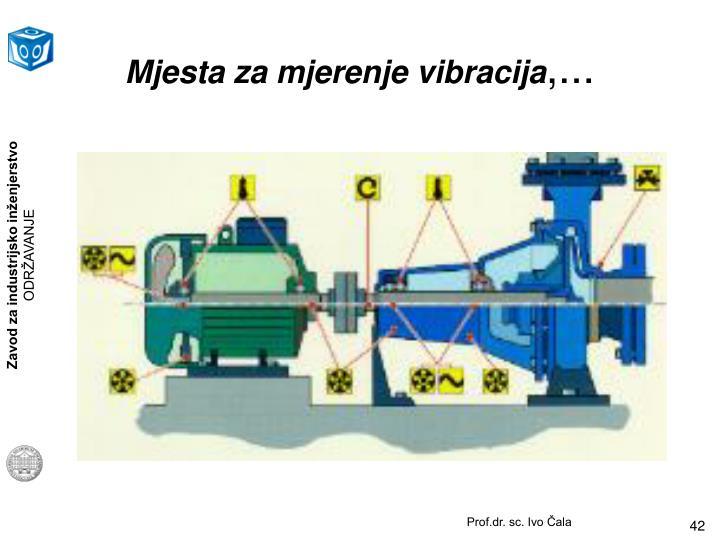 Mjesta za mjerenje vibracija