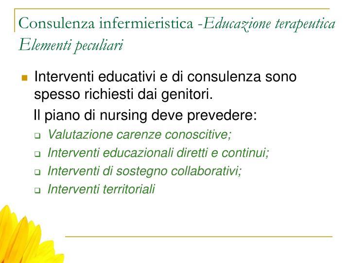 Consulenza infermieristica -