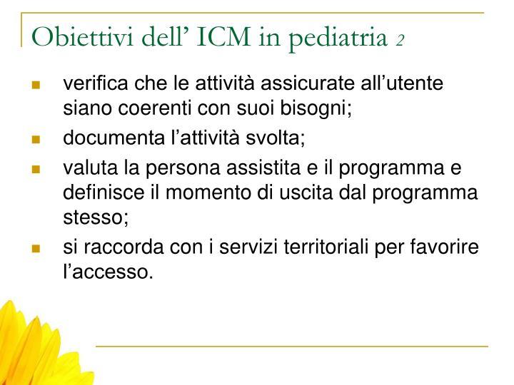 Obiettivi dell' ICM in pediatria