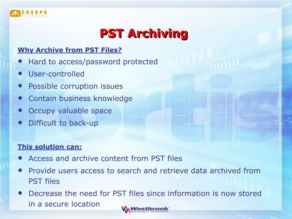 PST Archiving