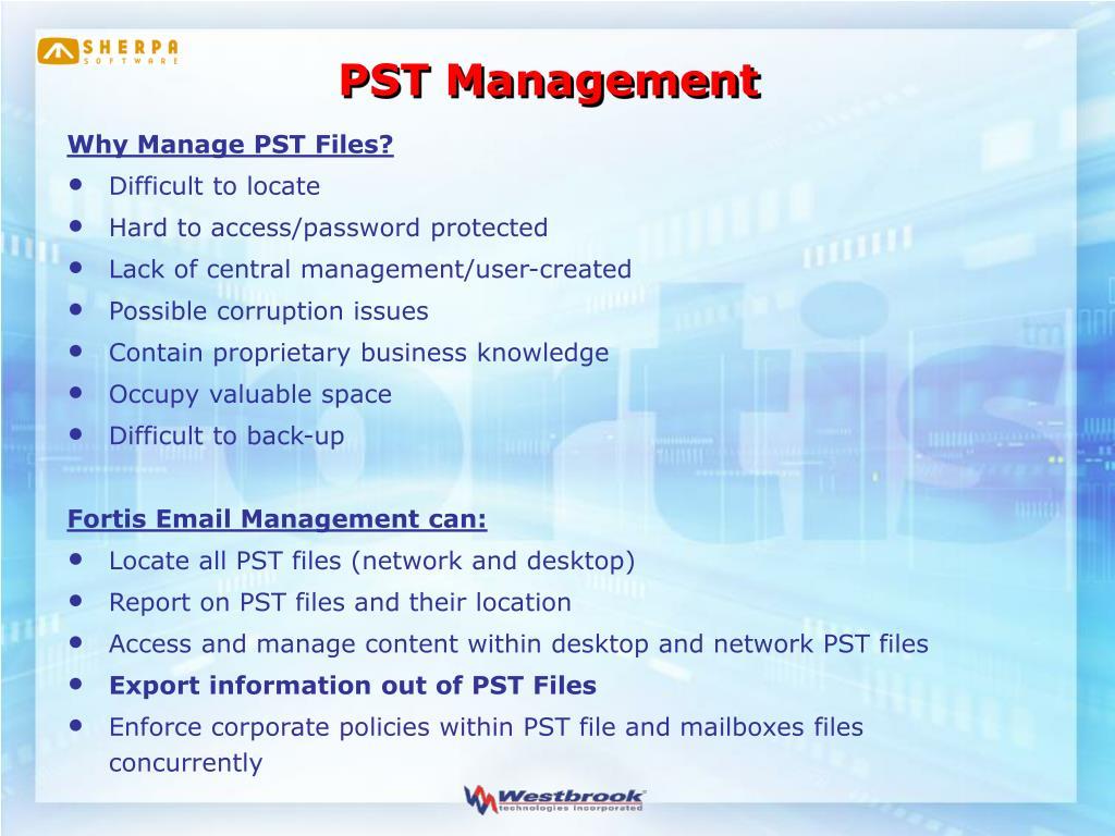 PST Management