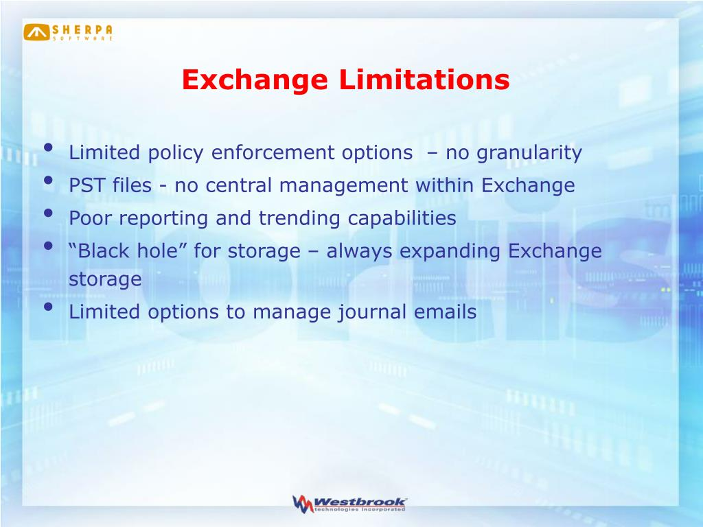 Exchange Limitations