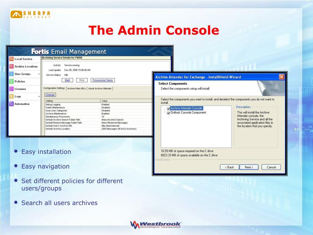 The Admin Console