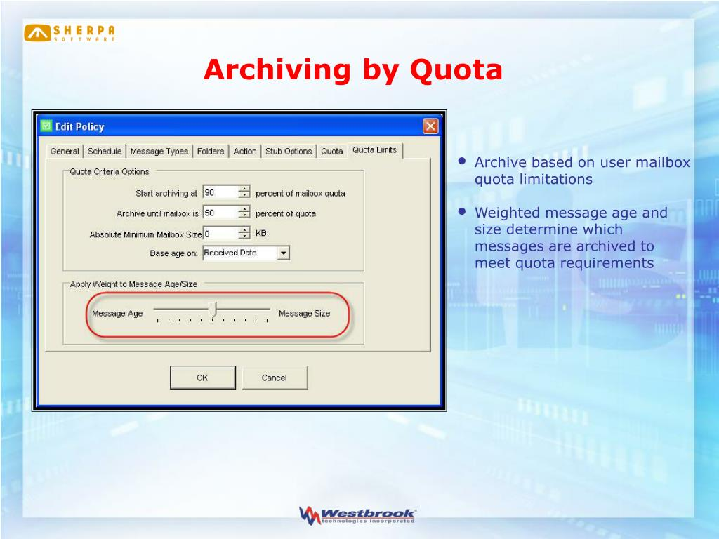 Archiving by Quota