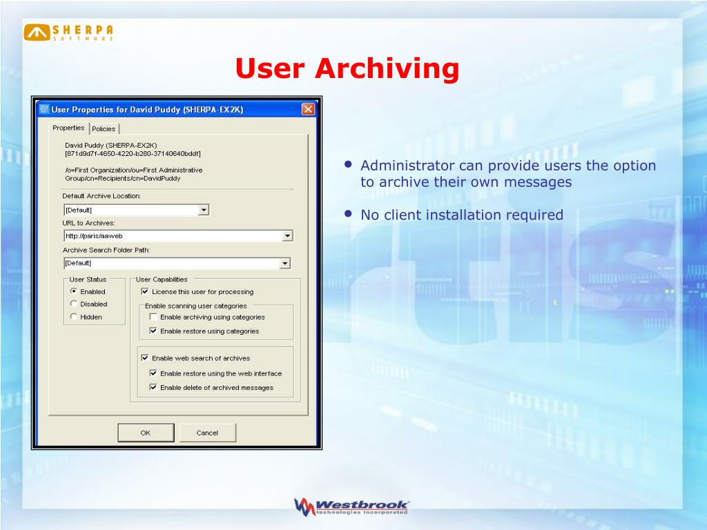 User Archiving