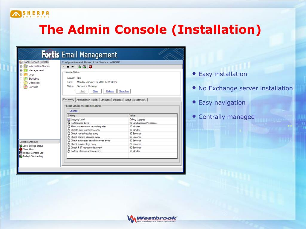 The Admin Console (Installation)