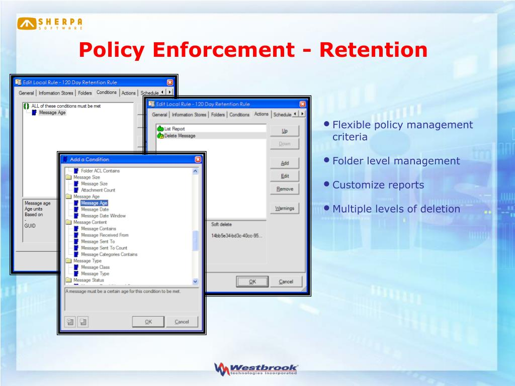 Policy Enforcement - Retention