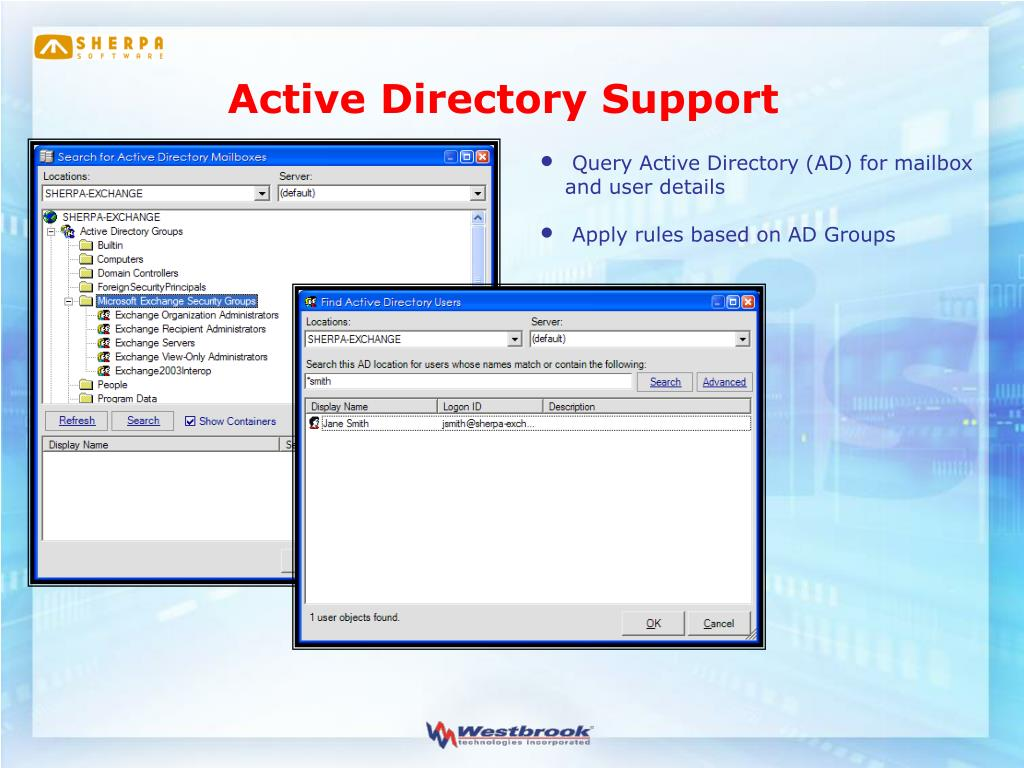 Active Directory Support