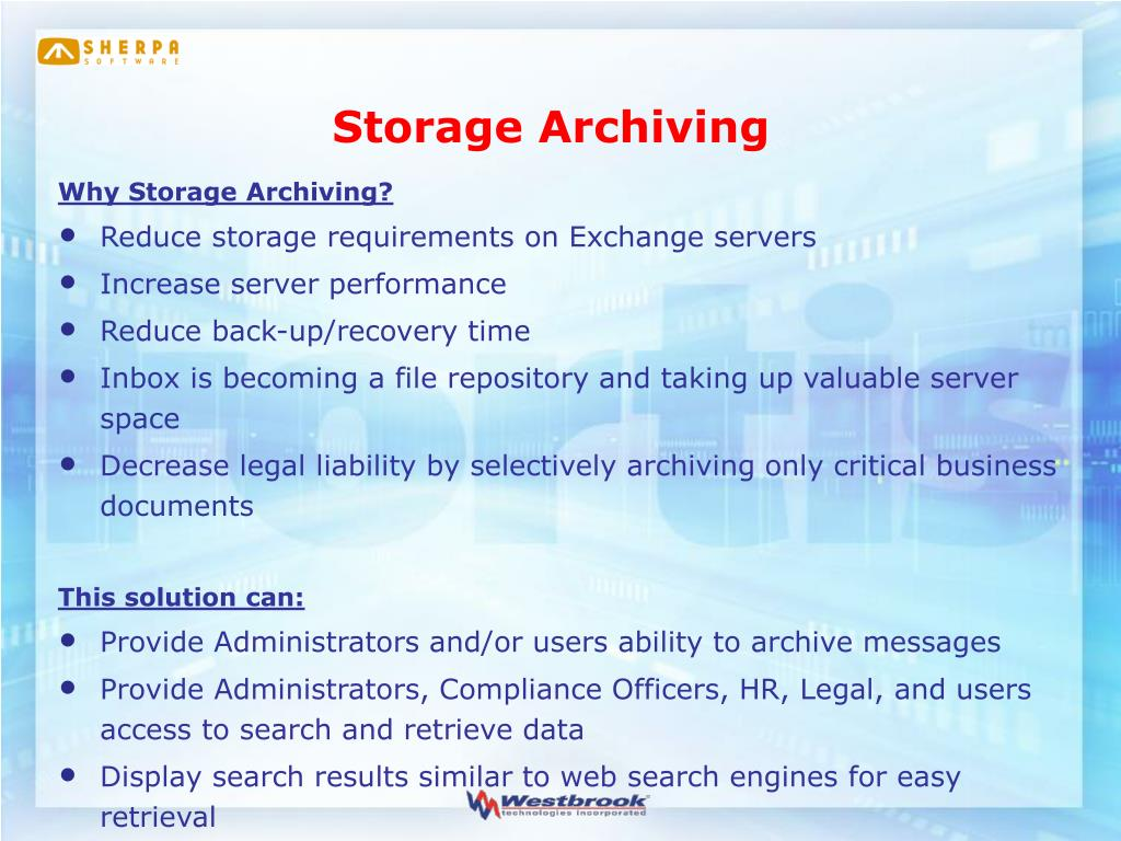 Storage Archiving