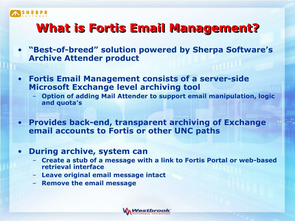 What is Fortis Email Management?