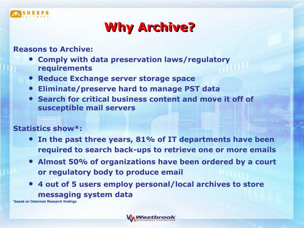 Why Archive?