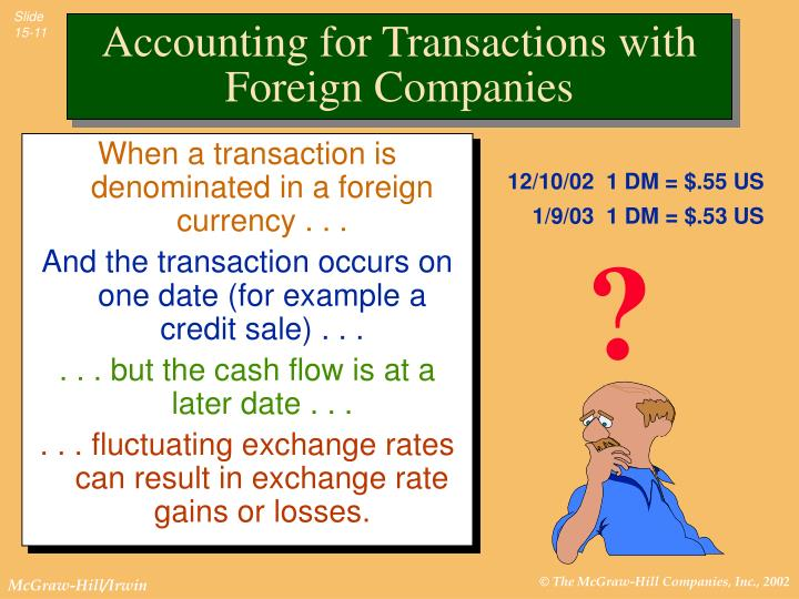 When a transaction is denominated in a foreign currency . . .
