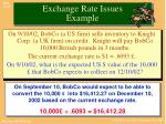 exchange rate issues example