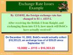 exchange rate issues example1