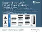 exchange server 2003 proliant server architecture