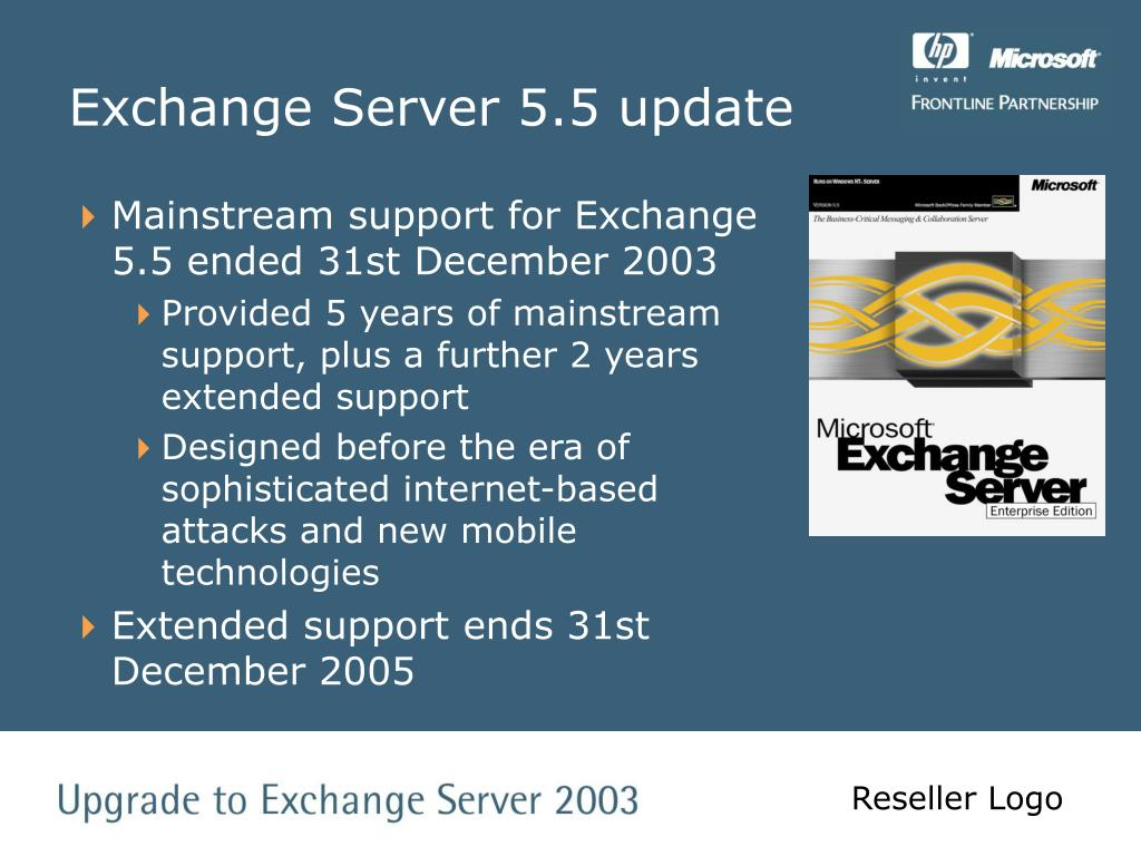 Exchange Server 5.5 update