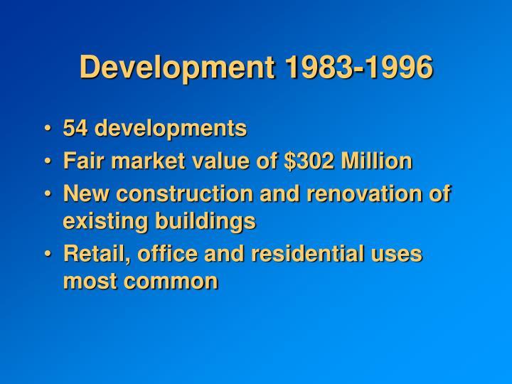Development 1983-1996