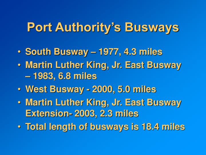 Port Authority's Busways