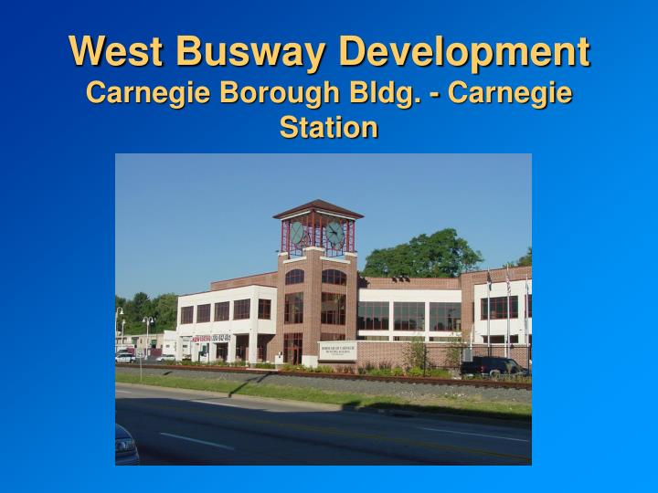West Busway Development